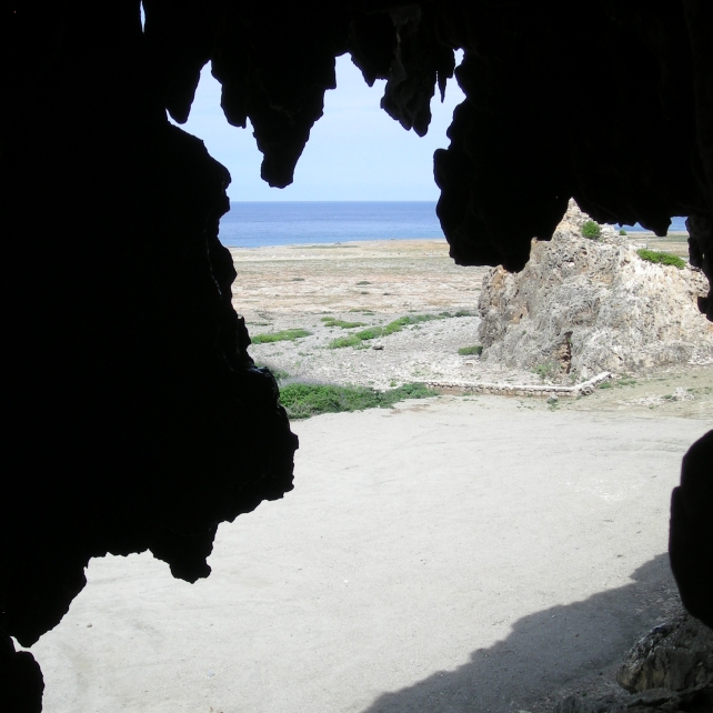 View from a cave in Aruba
