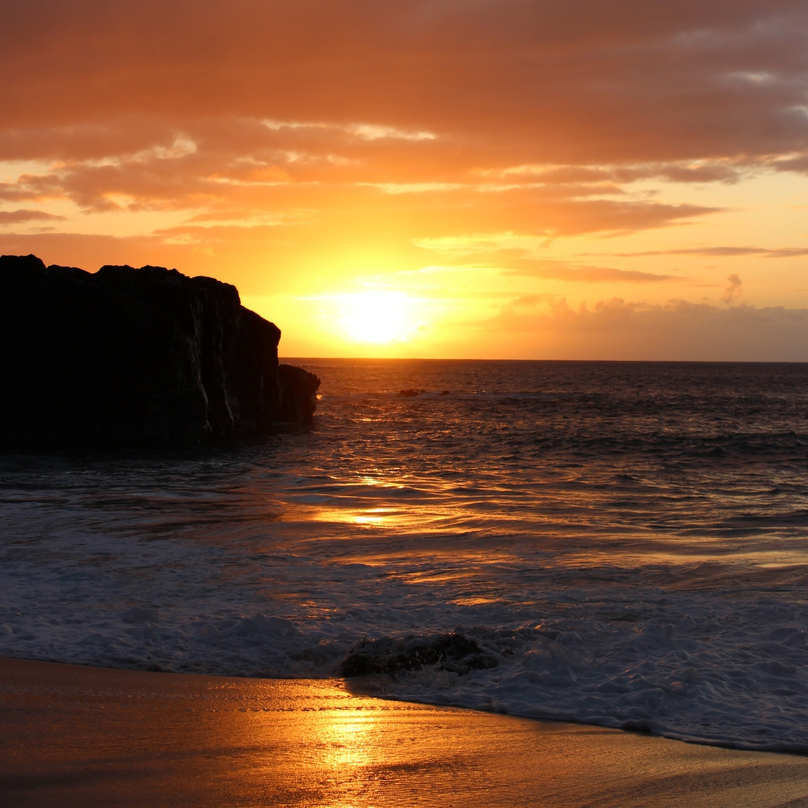 Sunset at Waimea Bay Oahu