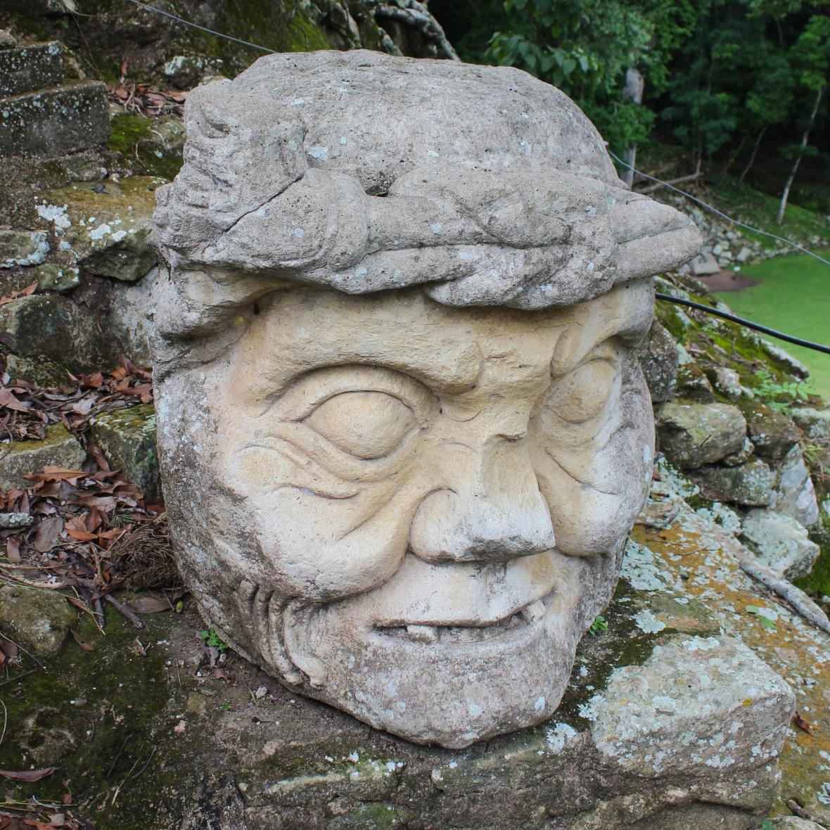 Old Man's Head - Mayan Ruins Honduras