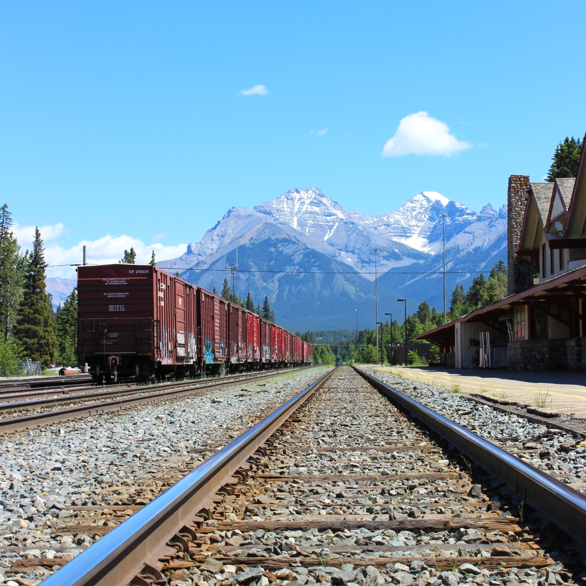 CP Rail Station in Banff