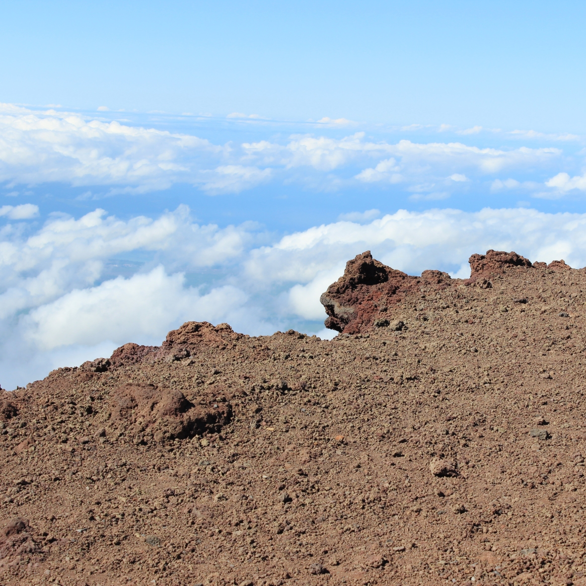 The edge of Haleakala Volcano