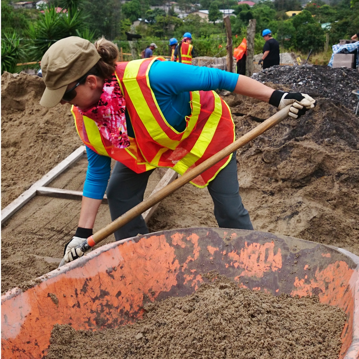 Habitat for Humanity - Shovelling and Sifting Sand
