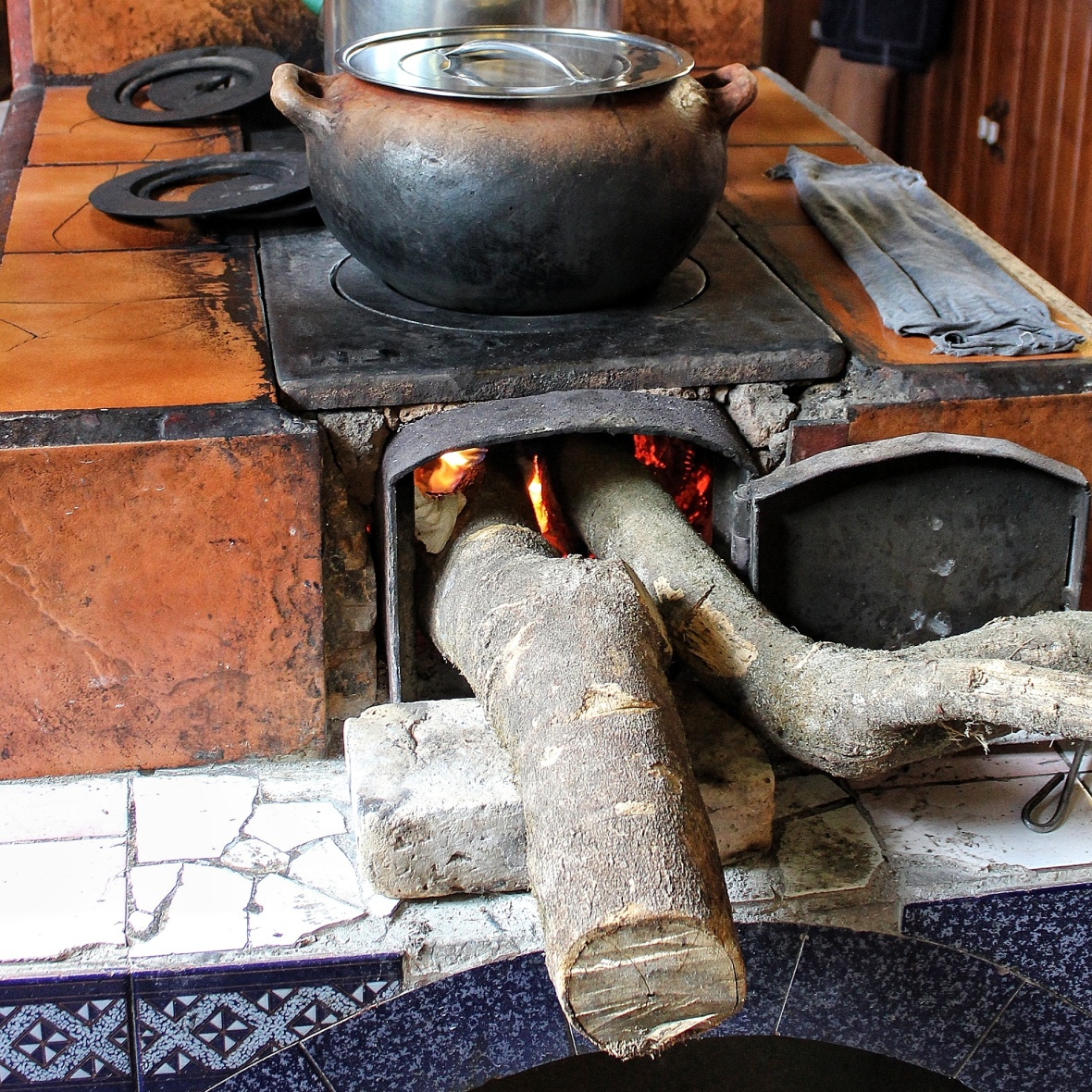 Traditional wood burning oven in Honduras