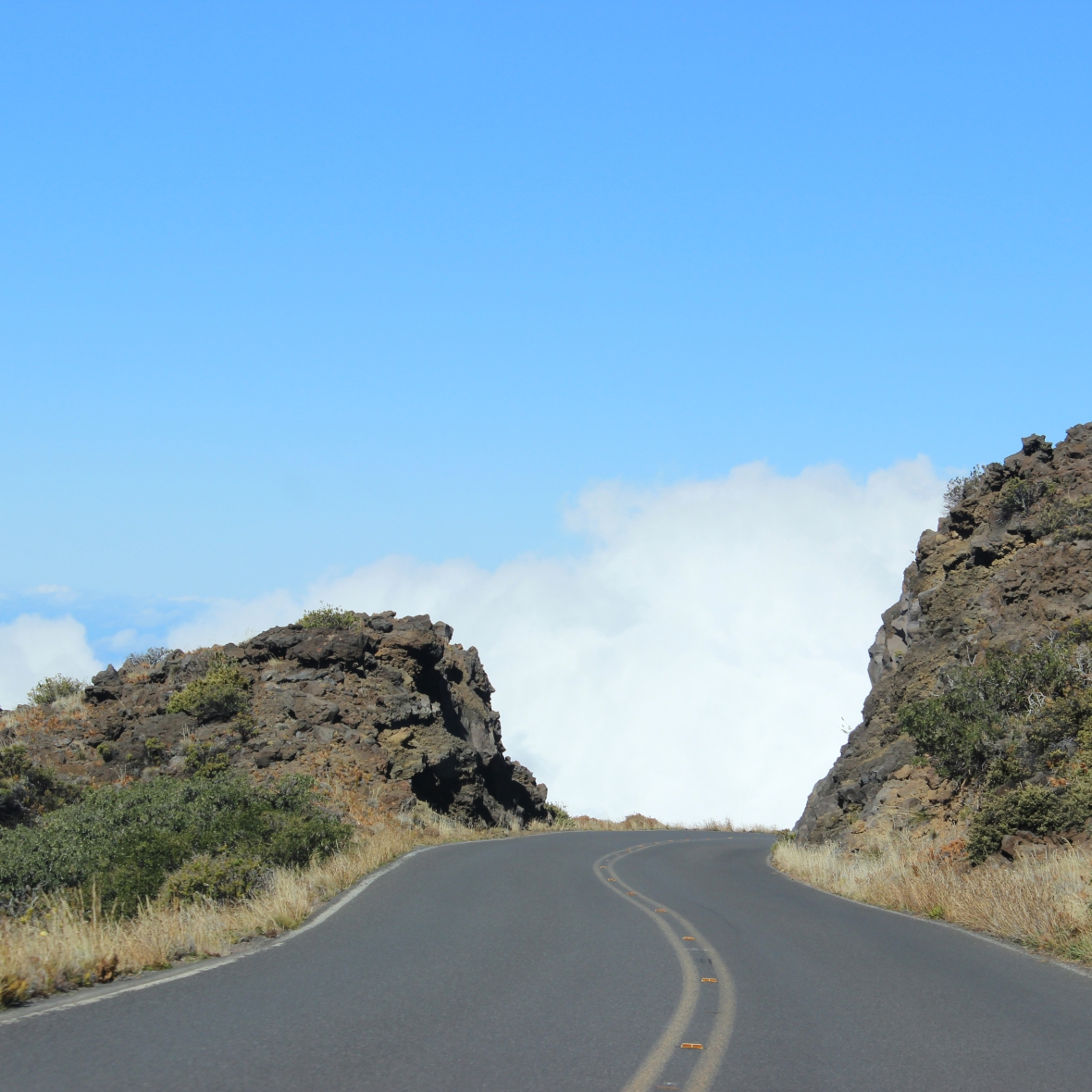 Road up to Haleakala Volcano