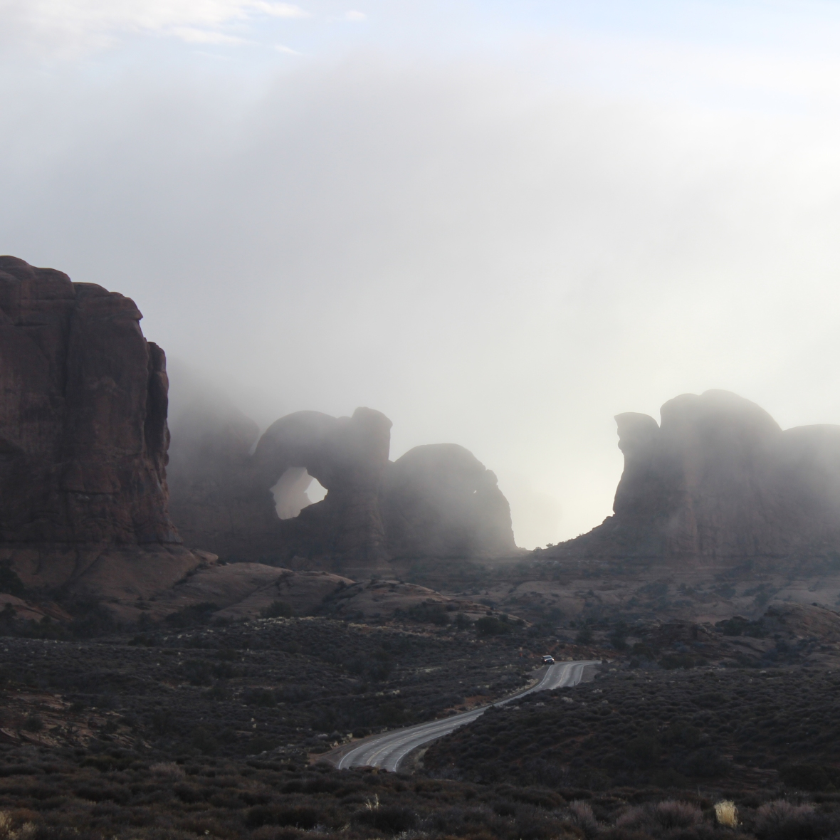 Drive through Arches National Park