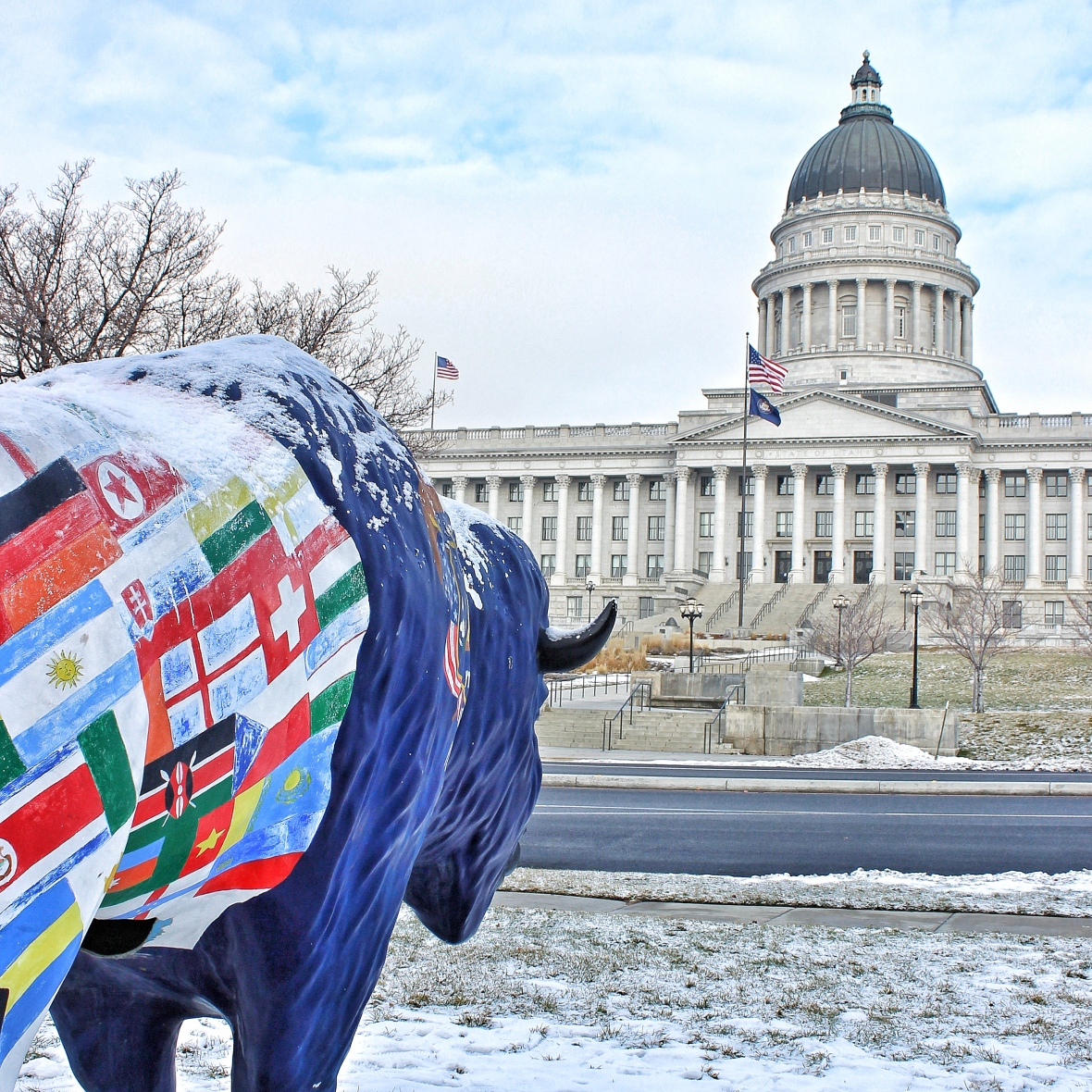 The Buffalo and the Utah State Capitol Building