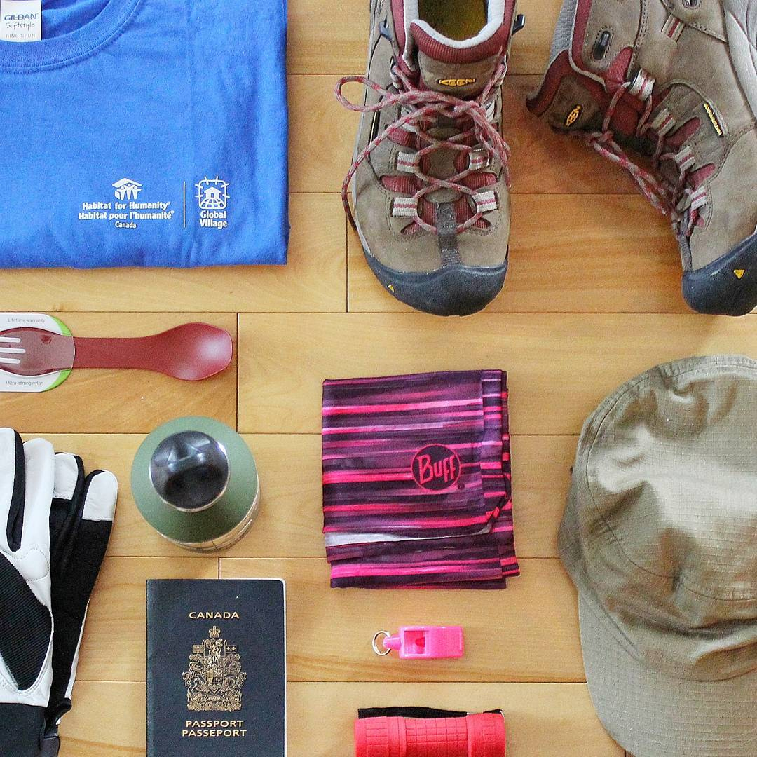 Packing List - Gear for Habitat For Humanity Build