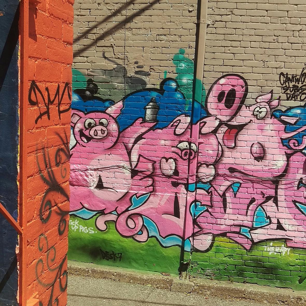 Pig Graffiti in kensington market