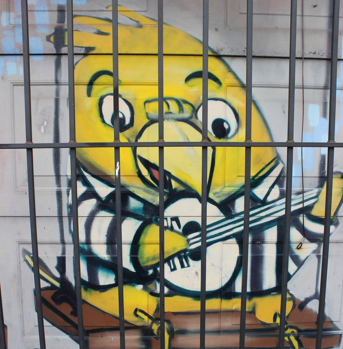 Jail bird mural in Toronto