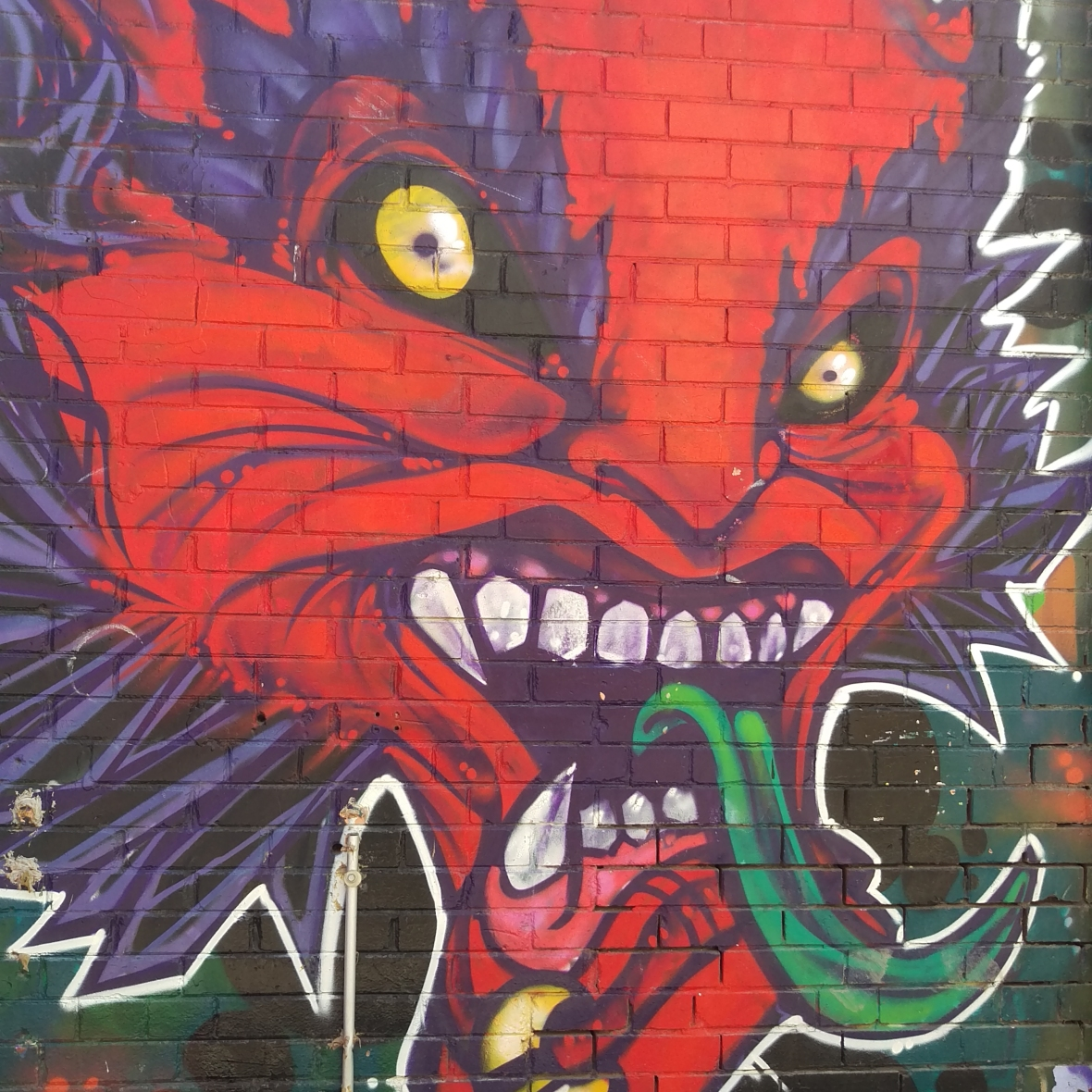 Kensington Market - Devil Graffiti