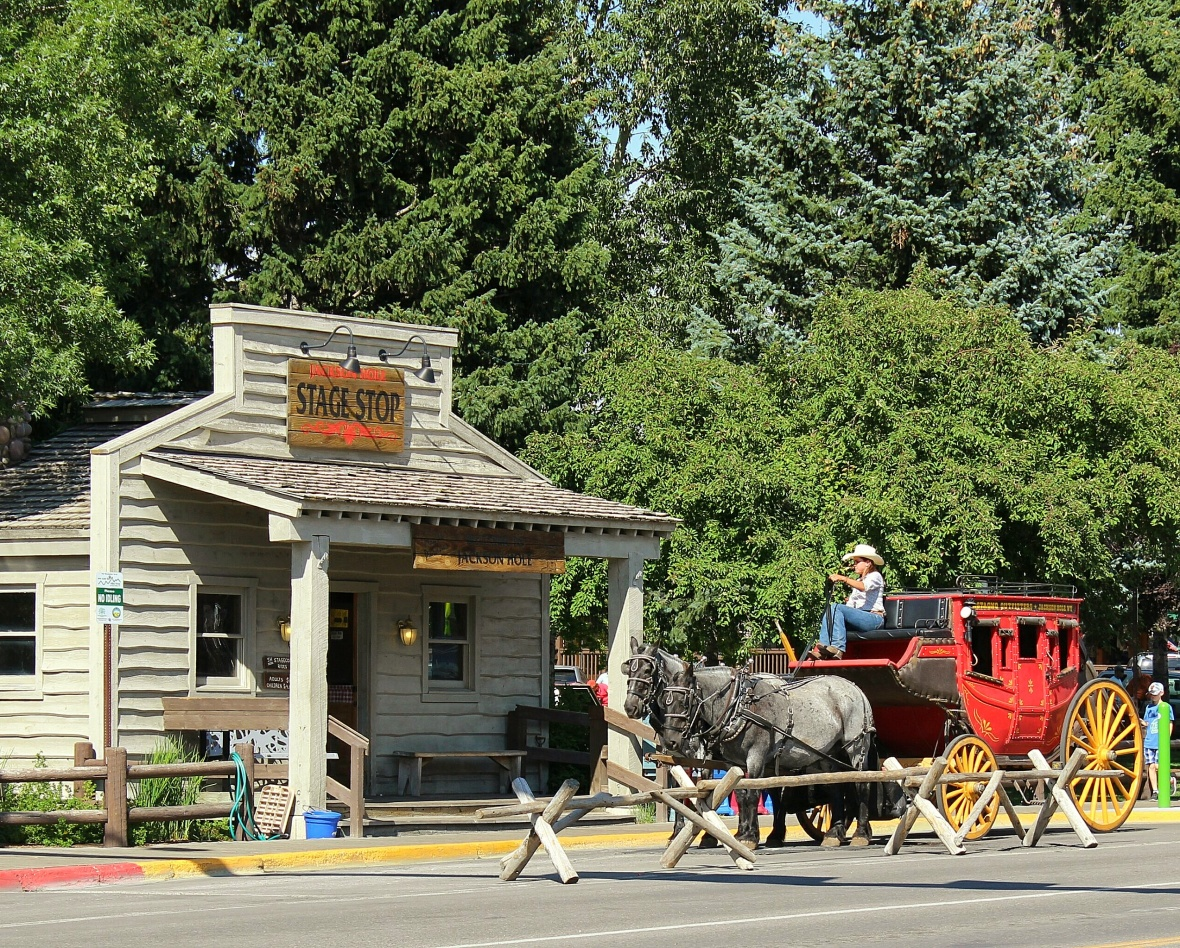Stage Coach Stop Jackson Hole Wyoming