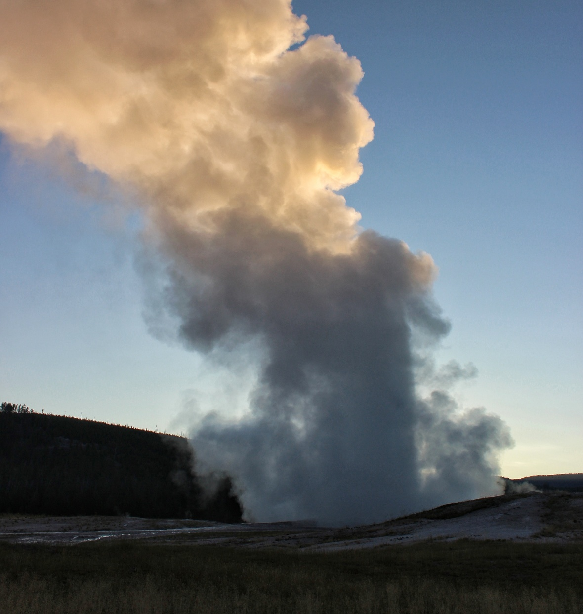 Old Faithful Sunrise with Geyser