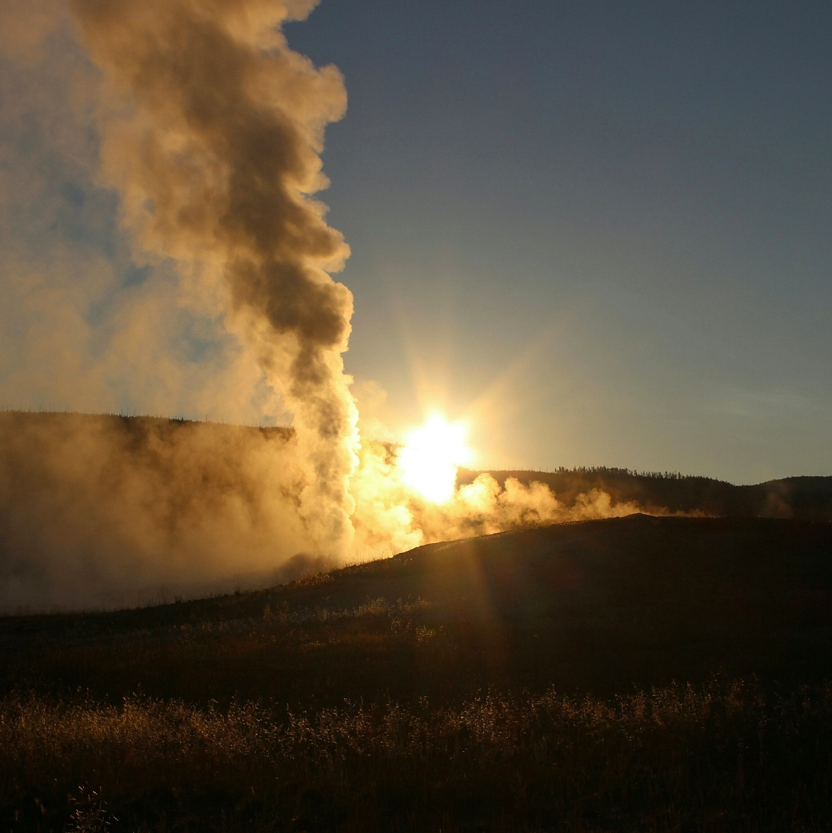 Old Faithful at Sunrise