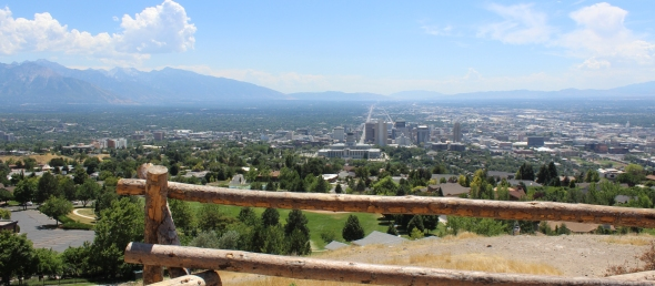 Views overlooking Salt Lake City