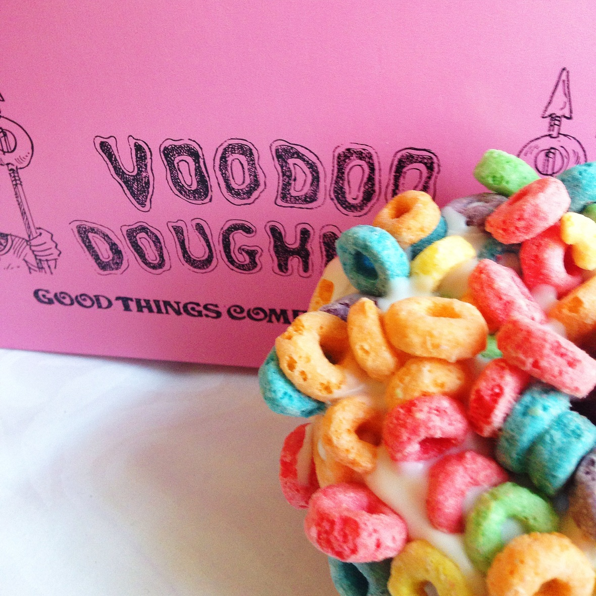 Fruit Loop donut from Voodoo doughnuts in Portland