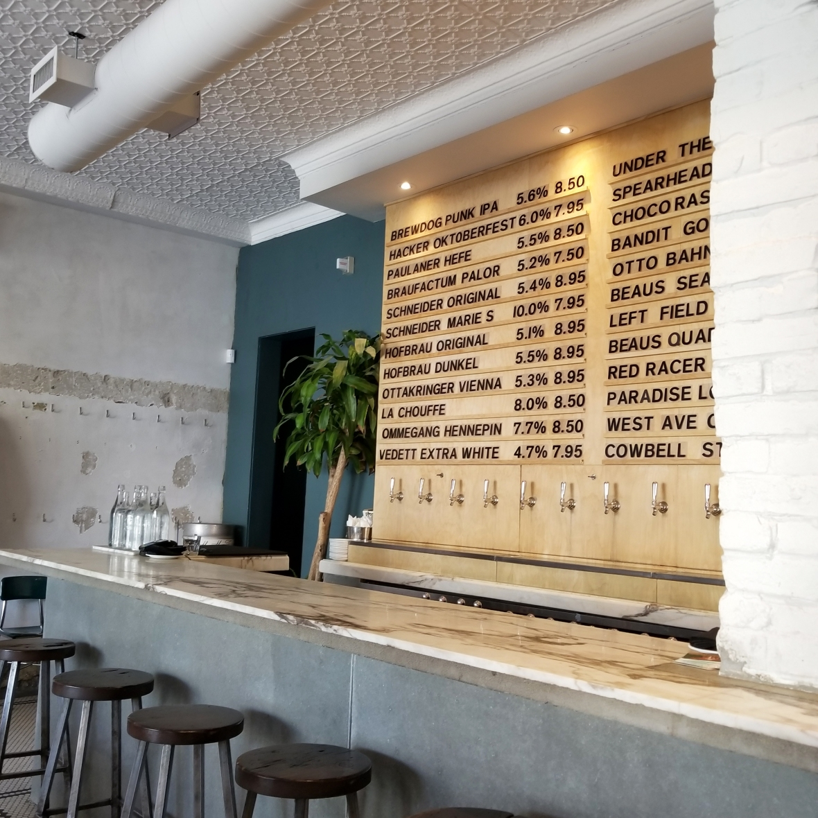 Otto's Beers on Tap