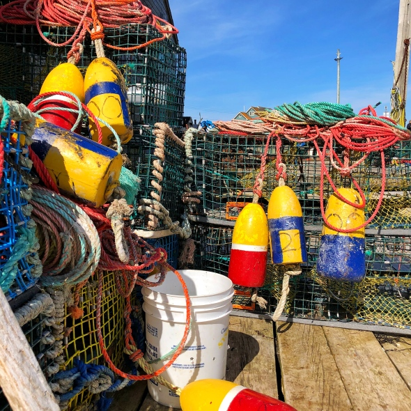 Traps, buoys and rope Nova Scotia